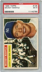 Lot 121: 1956 Topps Mantle PSA 5