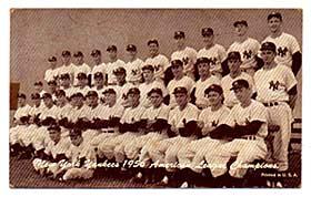 A 1956 Yankees Exhibit card.