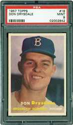 1957 Topps Don Drysdale #18