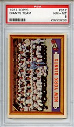 Lot 157: 1957 Topps Giants Team PSA 8