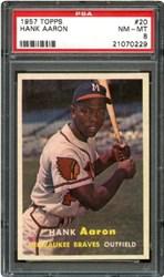 1957 Topps Hank Aaron #20