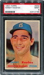 1957 Topps Sandy Koufax #302