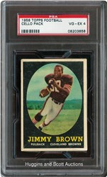 1958 Topps Football Cello Pack (Jim Brown-Top)