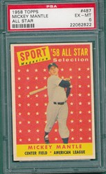 1958 Topps Mickey Mantle #487 (All Star)