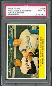 1958 Topps Rival Fence Busters sold for $8,510 in Superior sale