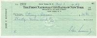 1959 John Kennedy Signed Check