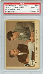 Lot 2: 1959 Fleer Ted Signs PSA 8