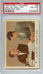 Lot 9: 1959 Fleer Ted Signs PSA 8