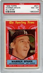 1959 Topps Warren Spahn #571 (All Star)