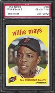 The finest 1959 Topps Mays in existence, a PSA 10