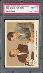 1959 Fleer Ted Williams (PSA 9 MT) - sold for $1,650