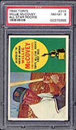 Willie's 1960 Topps rookie card