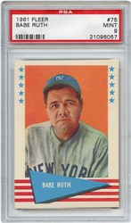 Lot 3: 1961 Fleer Babe Ruth PSA 9