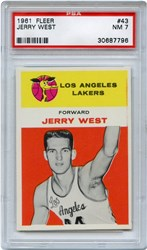 1961 Fleer Jerry West #43