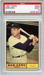 1961 Topps Bob Cerv #563