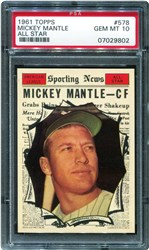 1961 Topps Mickey Mantle #578 (All Star)