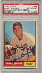 1961 Topps Sandy Koufax #344