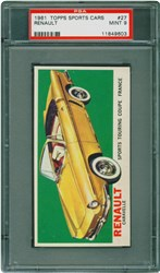 1961 Topps Sports Cars Renault #27