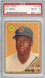 Lot 3: 1962 Topps Brock RC PSA 8