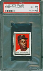 1962 Topps Stamps Roberto Clemente