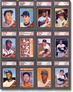 The near-complete 1962 Topps baseball set sold for $35,650.