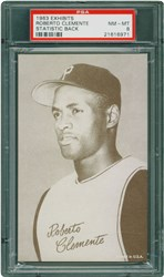 1963 Exhibits Statistic Back Roberto Clemente