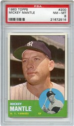 Lot 5: 1963 Topps Mantle PSA 8