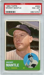 Lot 4: 1963 Topps Mantle PSA 8