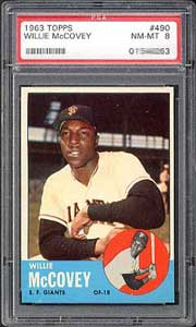 The blue border makes this 1963 Topps McCovey tough