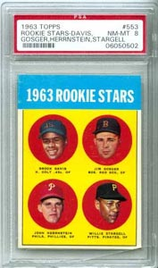 1963 Topps Willie Stargell Rookie Card