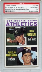 Lot 6: 1964 Topps Athletics Rookies PSA 10