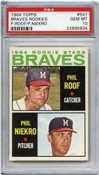 1964 Topps Braves Rookies #541 (Phil Roof/Phil Niekro)