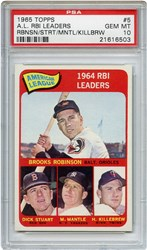 Lot 5: 1965 Topps Mantle LL PSA 10