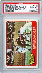 Lot 1: 1965 Topps Mantle WS PSA 10