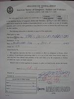 1966 Jim Morrison Signed Document