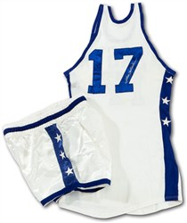 1966 John Havlicek Signed NBA All-Star Game-Worn Jersey and Shorts