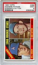 1966 Topps Dodgers Rookies #288 (B.Singer/D.Sutton)
