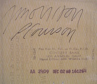 1968 Jim Morrison Signed Check Closeup