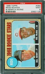 1968 Topps Reds Rookies #384 (B.Henry/H.McRae)