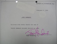 1969 Jimi Hendrix Signed Document