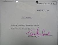 1969 Jimi Hendrix Signed Document