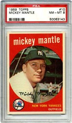 1969 Topps Mickey Mantle #500 (Last Name in White)