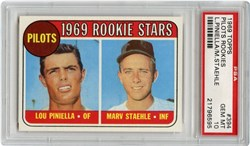 1969 Topps Pilots Rookies #394 (L.Piniella/M.Staehle)