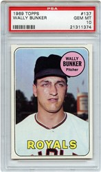 Lot 13: 1969 Topps Bunker PSA 10 Pop 1