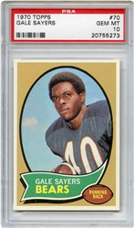 Lot 1: 1970 Topps Sayers PSA 10