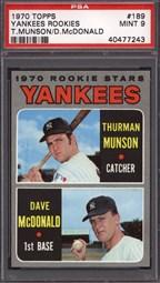 1970 Topps Yankees Rookies #189 (T.Munson/D.McDonald)