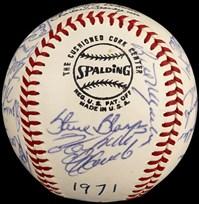 1971 World Champion Pittsburgh Pirates Team-Signed Baseball