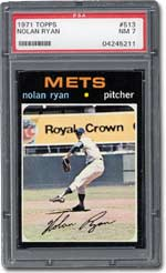 #513 Nolan Ryan is a key card in the 1971 Topps baseball set.