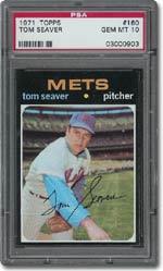 1971 Topps #160 Tom Seaver, PSA 10, $6,271.