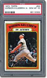 PSA Gem Mint 10 1972 Topps Harmon Killebrew In Action - sold for $1,150.
